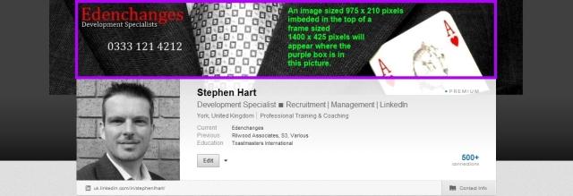 Edenchanges LinkedIn Background Making the image fit