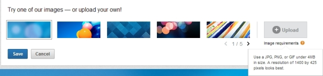 LinkedIn Background Choices