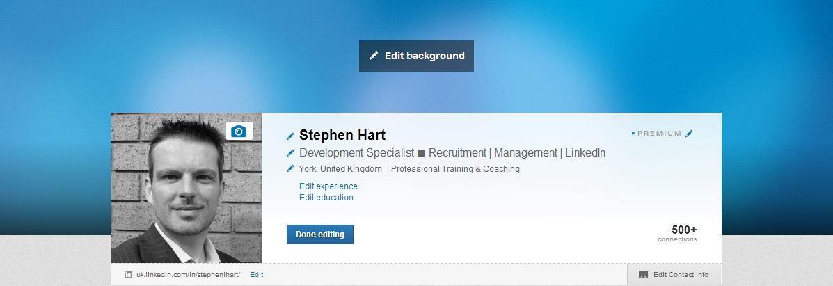 Step four - using LinkedIn backgrounds