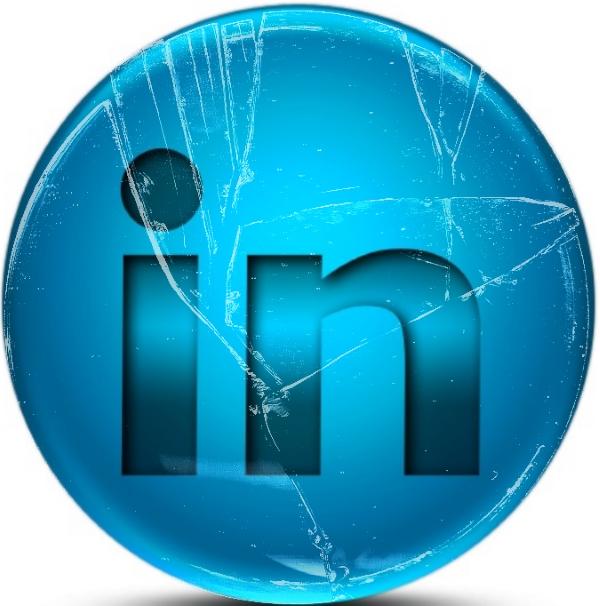 Broken LinkedIn Logo