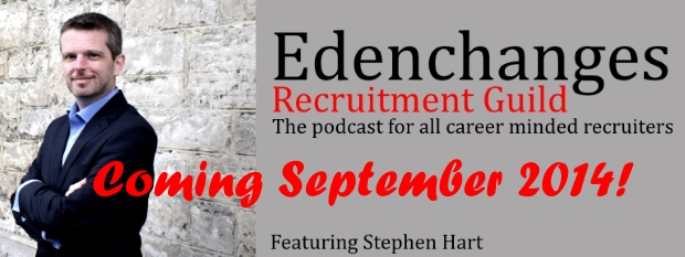 Banner advert about Recruitment Guild Podcast coming soon - September 2014