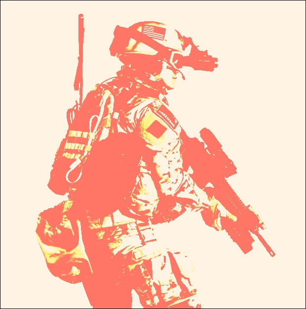 picture of a soldier in modern battle gear